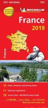 Frankrike 2019 Michelin 721 Karta