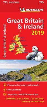 Storbritannien 2019 Michelin 713 Karta