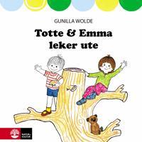 Totte och Emma leker ute