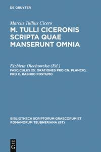 Orationes pro Cn. Plancio, pro C. Rabirio postumo