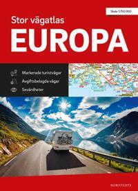 Stor vägatlas Europa : Skala 1:750 000