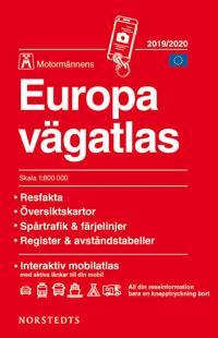 Europa vägatlas 2019-2020 Motormännen : skala 1:800.000