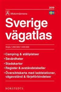 Sverige Vägatlas 2019 Motormännen : Skala 1:250.000-1:400.000