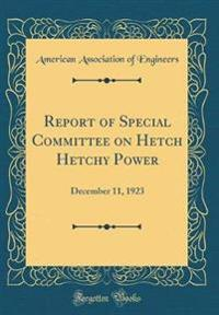 Report of Special Committee on Hetch Hetchy Power: December 11, 1923 (Classic Reprint)