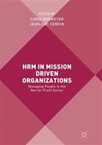 Hrm in Mission Driven Organizations