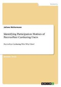 Identifying Participation Motives of Peer-to-Peer Carsharing Users