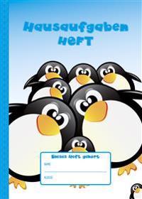 Hausaufgabenheft A5 Pinguine