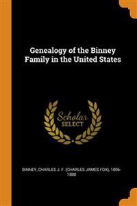 Genealogy of the Binney Family in the United States
