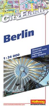 Berlin City Flash Hallwag stadskarta : 1:24000