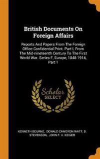 British Documents on Foreign Affairs
