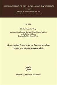 Inkompressible Strömungen Um Systeme Paralleler Zylinder Von Elliptischem Querschnitt