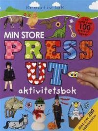Min store press ut-aktivitetsbok. Hobbyhefte. Fra 5 år. Med utstansede figurer og klistremerker