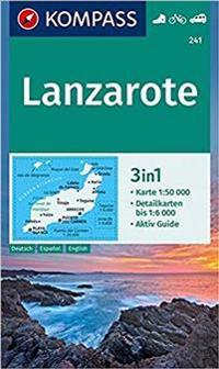 Lanzarote 241 Gps Kompass Matkailu Turismi Kartta