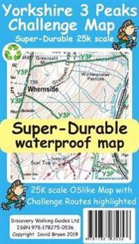 Yorkshire 3 Peaks Challenge Map David Brawn Kartta
