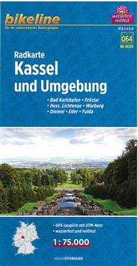 Bikeline Radkarte Kassel und Umgebung 1 : 75.000