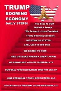 Trump Booming Economy Daily Steps