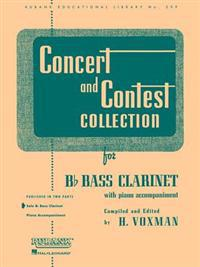 Concert and Contest Collection for BB Bass Clarinet: Solo Book Only
