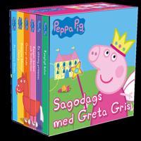 Sagodags med Greta Gris : 6 små böcker