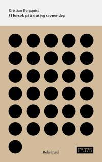 31 forsøk på å si at jeg savner deg - Kristian Bergquist pdf epub