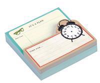 Vintage Clock Shaped Memo Pads