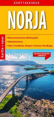 Norja Kartta Opas 1 1 000 000 Kirjat Kartta Viikattu