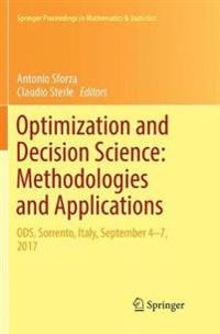 Optimization and Decision Science: Methodologies and Applications: Ods, Sorrento, Italy, September 4-7, 2017
