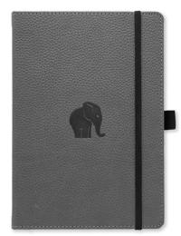 Dingbats* Wildlife A5+ Grey Elephant Notebook - Dotted