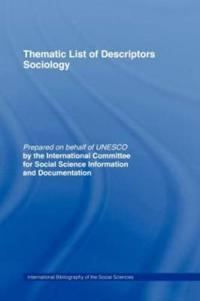 Thematic List of Descriptors