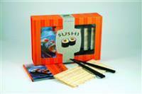 Sushi : startpaket med receptbok, bambu rullmatta, 4 ätpinnar