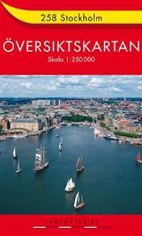 258 Stockholm Översiktskartan : 1:250000