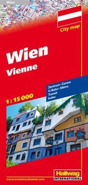 Hallwag Wien / Vienna Road Map