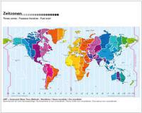 Worldtime / Heure Mondiale Map (Winter/Hivers)