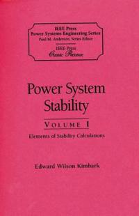 Power System Stability, Volumes I, II, III, 3 Volume Set