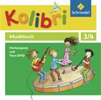 Kolibri - Musikbuch 3 / 4. Hörbeispiele und Tanz- 4 CD`s+1 DVD. Allgemeine Ausgabe