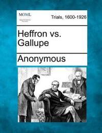 Heffron vs. Gallupe