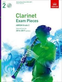 Clarinet Exam Pieces 2014-2017, Grade 2, Score, Part & CD
