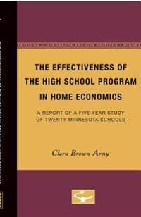 The Effectiveness of the High School Progam in Home Economics