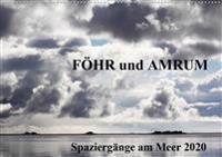 Föhr und Amrum - Spaziergänge am Meer (Wandkalender 2020 DIN A2 quer)