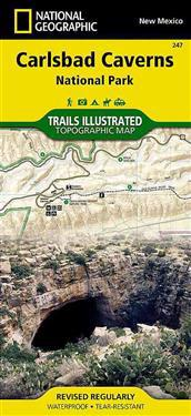 National Geographic Trails Illustrated Map Carlsbad Caverns National Park New Mexico, USA