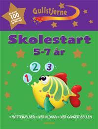 Skolestart 5-7 år. Matteøvelser. Lær klokka. Lær gangetabellen. Gullstjerne.