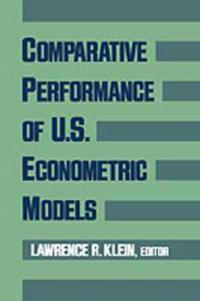Comparative Performance of US Econometric Models