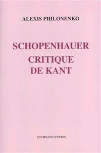Schopenhauer Critique de Kant