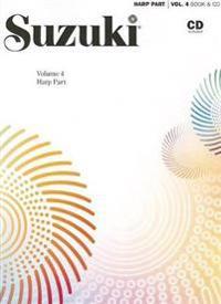 Suzuki Harp School, Vol 4: Harp Part, Book & CD [With CD (Audio)]