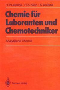 Chemie Fur Laboranten Und Chemotechniker