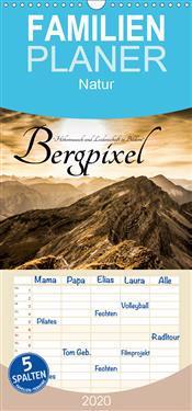 """Bergpixel """"Höhenrausch und Leidenschaft"""" - Familienplaner hoch (Wandkalender 2020 , 21 cm x 45 cm, hoch)"""