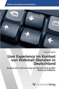 User Experience Im Kontext Von Webmail-Diensten in Deutschland