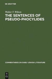 The Sentences Of Pseudo-Phocylides