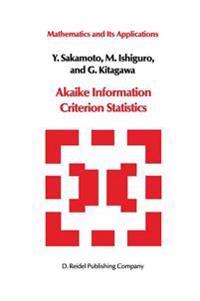 Akaike Information Criterion Statistics