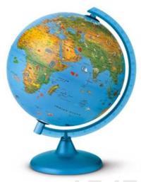 Karttapallo Arca, 25 cm, Suomi, sininen, lasten karttapallo