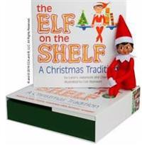The Elf on the Shelf (Girl): A Christmas Tradition [With Book](Dark girl)